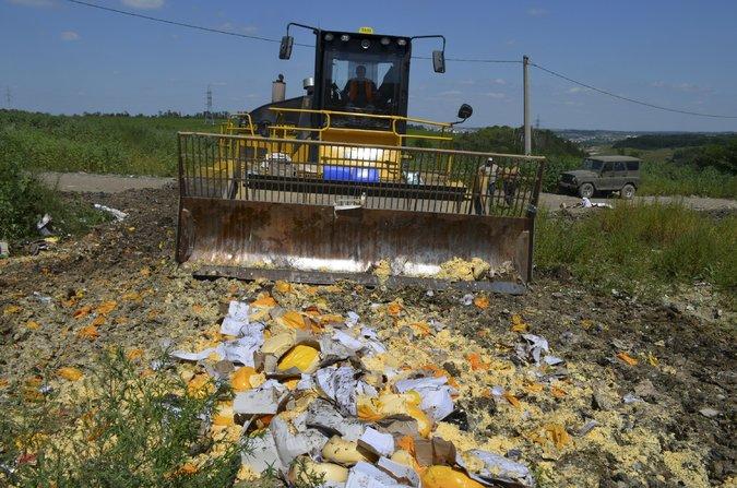 Русия унищожава контрабандни храни