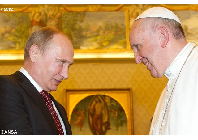 Папа Франциск се срещна с президента Путин
