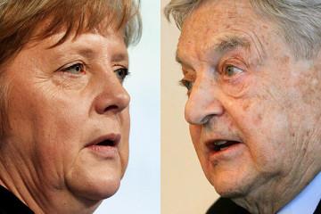 Джордж Сорос за Ангела Меркел