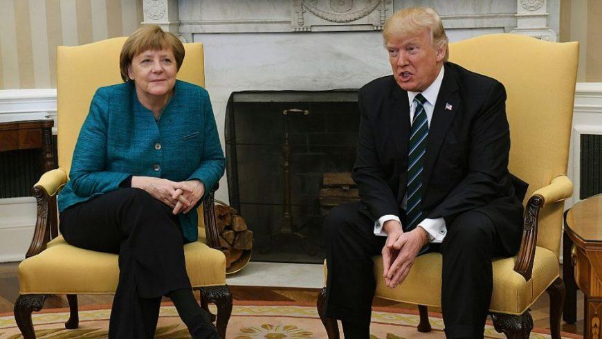 Неловък момент беляза срещата между Меркел и Тръмп