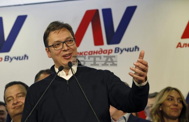 Проевропейският кандидат Александър Вучич спечели изборите в Сърбия