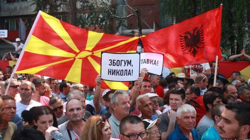 Протестиращите в Македония вече искат предсрочни избори