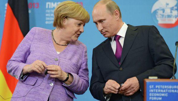 В събота Меркел ще посрещне Путин в Германия