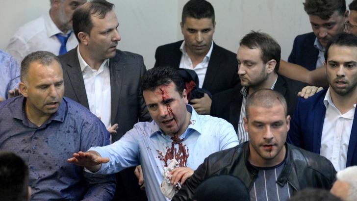 Година след погрома в парламента Македония се променя