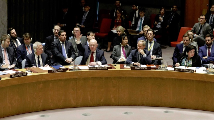 Съветът за сигурност отхвърли руска резолюция за Сирия