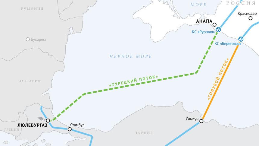 """Газпром"" и Турция договориха сухопътната част на Турски поток"