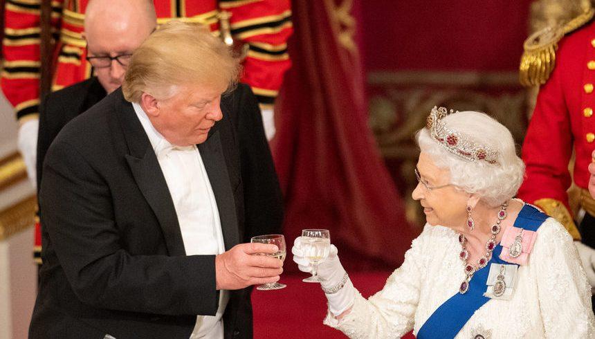 Пищен прием даде британската кралица в чест на американския президент