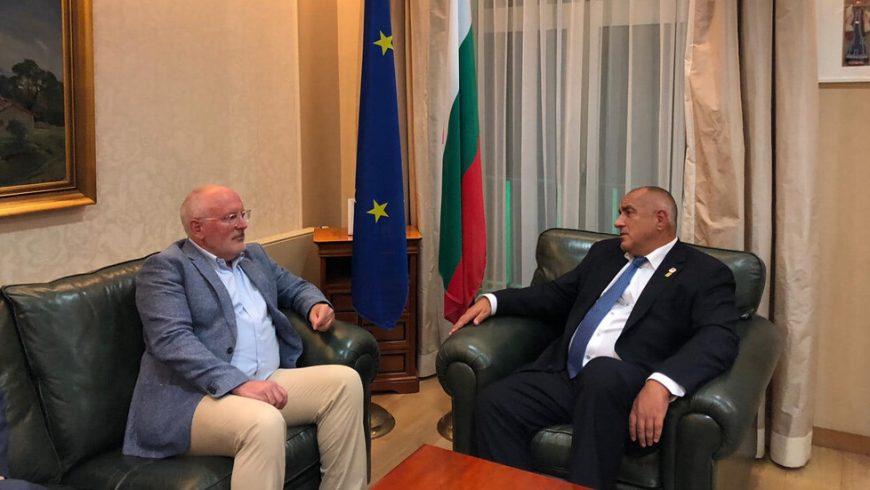 Борисов към Тимерманс: Важен е компромисът, кой е отгоре и кой – отдолу, не е важно