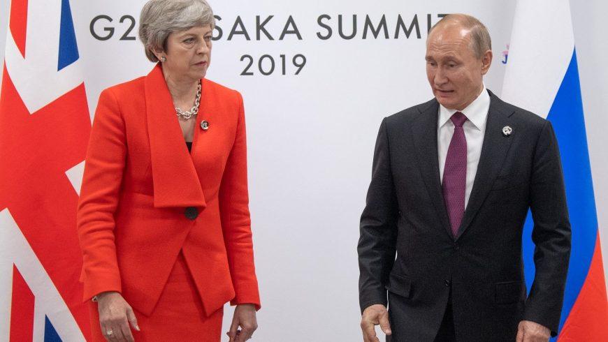 """Студена среща между Мей и Путин за случая """"Скрипал"""""""