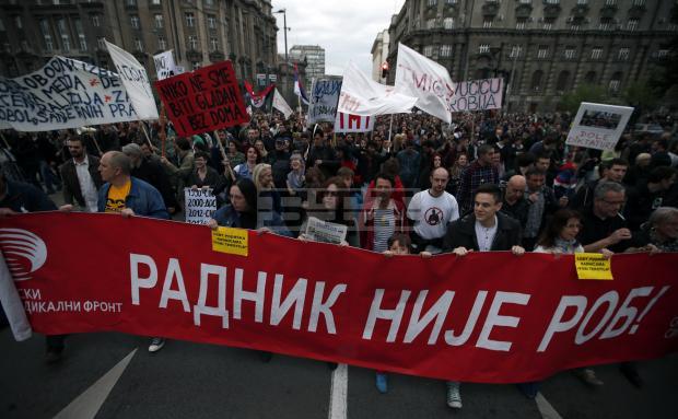 Поредна нощ на протести срещу изхода от президентските избори в Сърбия