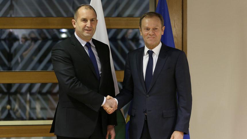 Туск и Радев ще обсъдят охраната на външните граници на ЕС