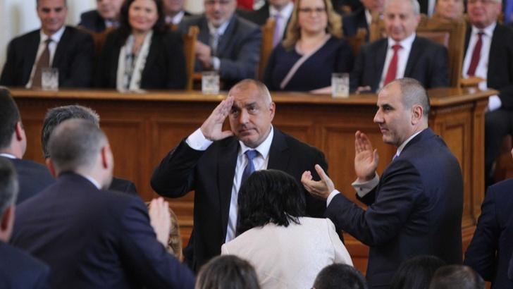 Със 133 гласа парламентът одобри Борисов за премиер