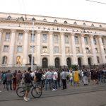 Протест срещу ареста на разследващи журналисти